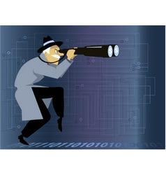 Cyber crime investigator vector