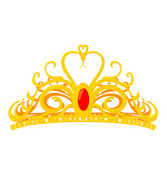 Diadem icon cartoon style vector