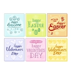 Easter and valentines day party flyer posters vector