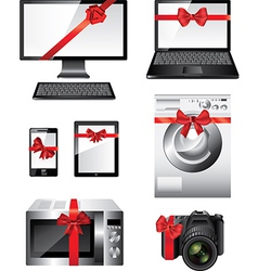 electronic devices presents vector image vector image