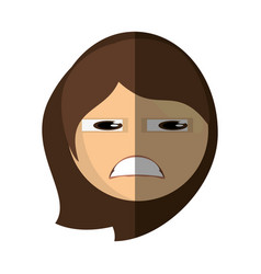 emoticon sad cartoon design vector image
