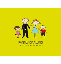 Family drawing vector