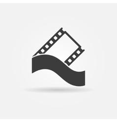 Film strip concept logo or icon vector