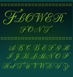 font flower and luxury vector image