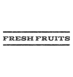 Fresh Fruits Watermark Stamp vector image vector image