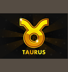 golden astrology signs on black background zodiac vector image