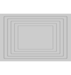 Grey concentric 5 rectangle background vector