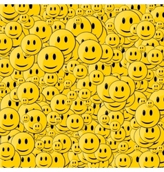Happy face background vector image