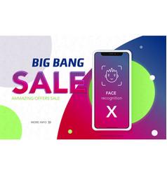 Iphone x sale banner vector