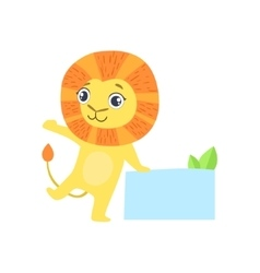 Lion With The Template For The Message vector image vector image