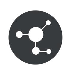 Monochrome round molecule icon vector