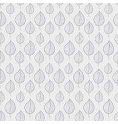 Pattern leafs gray vector image vector image