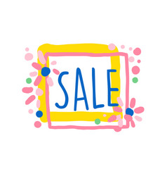 sale colorful logo special offer label banner vector image