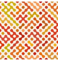 Seamless multicolor red orange rounded vector