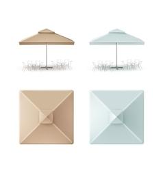 Set of Patio Outdoor Restaurant Square Umbrella vector image vector image