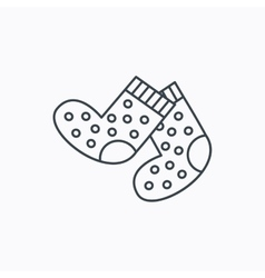 Socks icon baby underwear sign vector