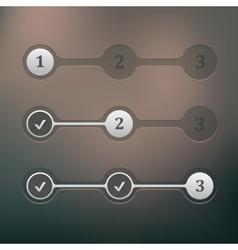 Steps progress vector