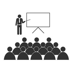 training with people icon on white vector image