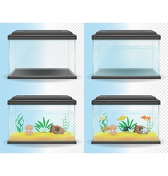 Transparent aquarium 05 vector