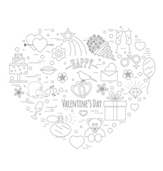Valentines day design template Graphic elements vector image vector image