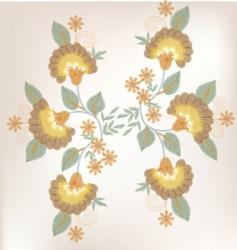 vintage flower design vector image vector image