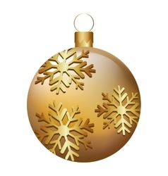 ball christmas decoration icon vector image