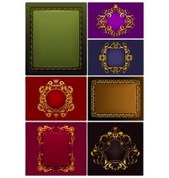Frames Vintage set vector image