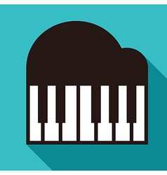 Piano icon vector
