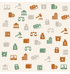 Finance seamless pattern vector