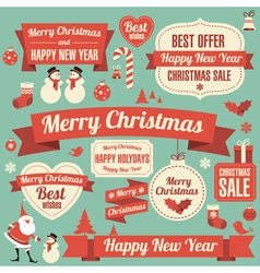 New Year design element set vector image