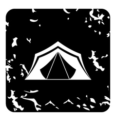 Tent icon grunge style vector