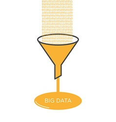 Big Data analysis filter funnel vector image