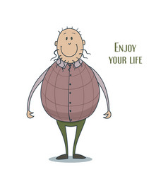 funny cute smiling man in a violescent waistcoat vector image