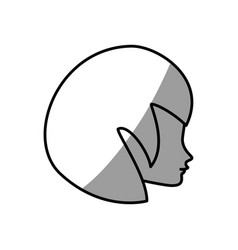 cute profile woman avatar vector image