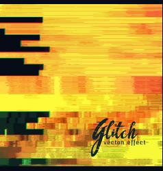 Yellow glitch background vector