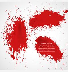 Ink splatter collection background vector