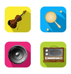 Music and party icons 2 vector image