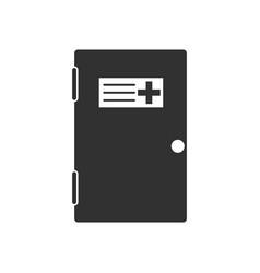 black icon on white background doctors door vector image
