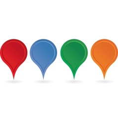 Set of colorful map pointers vector image