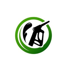 Eco fuel sign vector