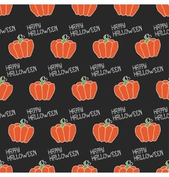 Happy halloween seamless pattern with pumpkins vector