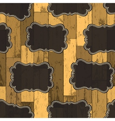 Wild west labels seamless pattern vector