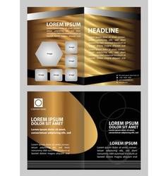 Brochure design vector image
