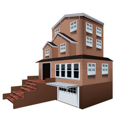 3d design for big house with garage vector image vector image