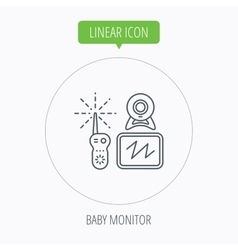 Baby monitor icon video nanny for newborn sign vector
