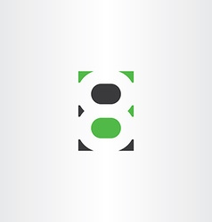 number 8 eight logotype logo symbol icon vector image