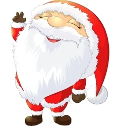 Santa claus painted on a white background vector