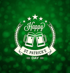 St patricks day holiday badge design greetings vector
