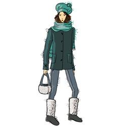 fashion trendy girl vector image