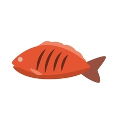 Fish icon healthy and organic food vector